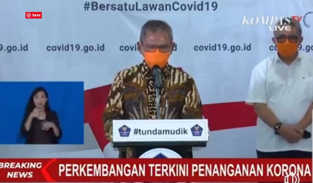 Masker Orange Jubir Covid-19