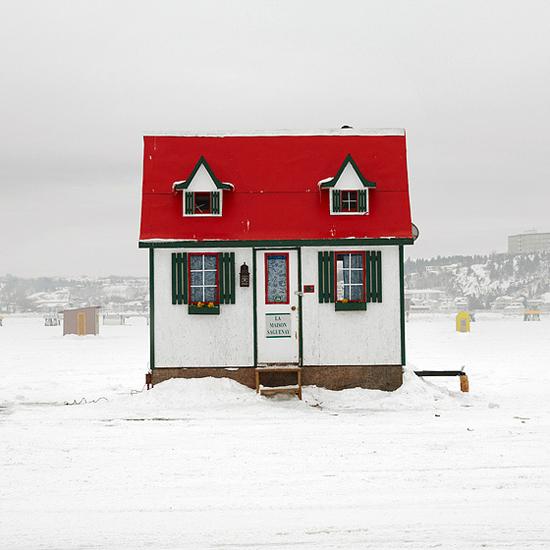 Ice fishing houses - photo#32