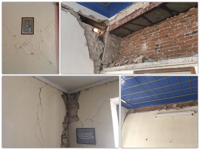 Σοβαρές ζημιές στην Ανώτατη Εκκλησιαστική Ακαδημία Βελλάς - Στο σημείο ο Μητροπολίτης Ιωαννίνων, κ.κ. Μάξιμος
