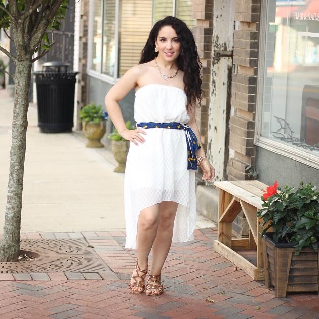 White Strapeless Dress