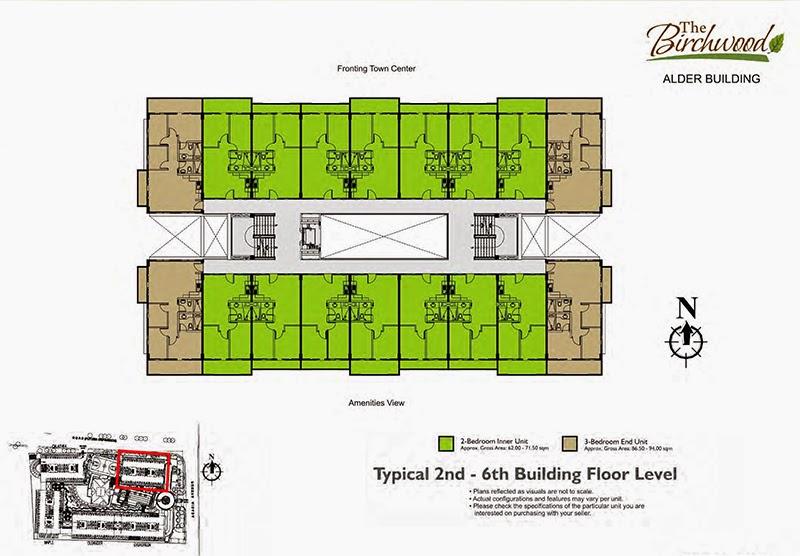 The Birchwood Floor Layout Alder 2nd to 6th Level