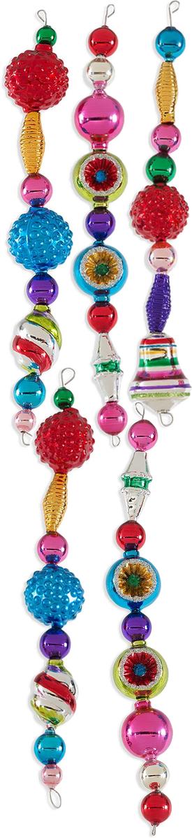 Christopher Rakdko Christmas Confetti Icicle Ornaments (set of 5)