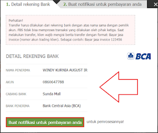 rekening bank fbs