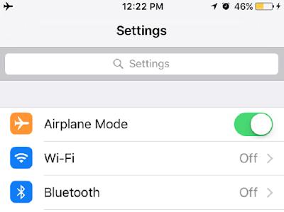 Hãy tắt 3g và wifi nếu không sử dụng