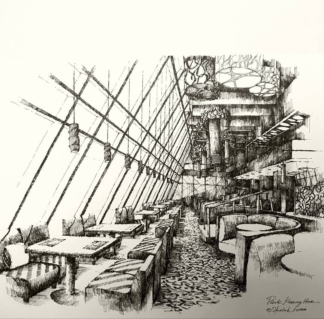 02-Park-Kwang-Hee-Architectural-Sketches-Interior-Exterior-Old-and-New-www-designstack-co