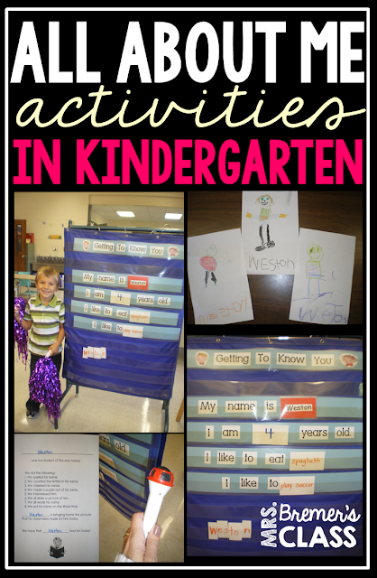 All About Me: Back to School Activities for Kindergarten