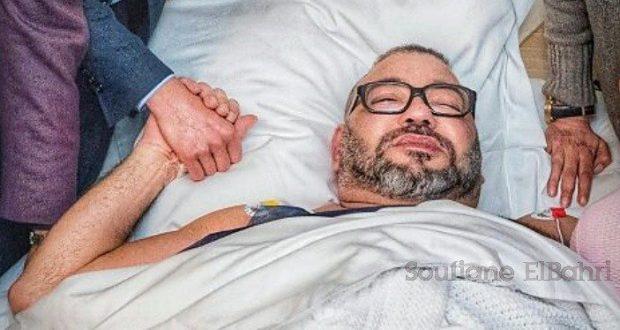 بعد إجرائه للعملية الملك يغادر المستشفى ويتجه لقصره بباريس..صورة