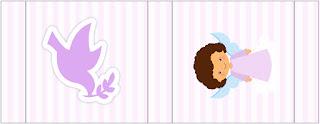 Brunette Angel Girl, Free Printable Labels.