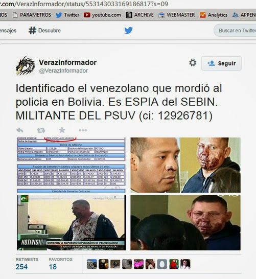 Venezolano detenido sería espía del SEBIN de Venezuela