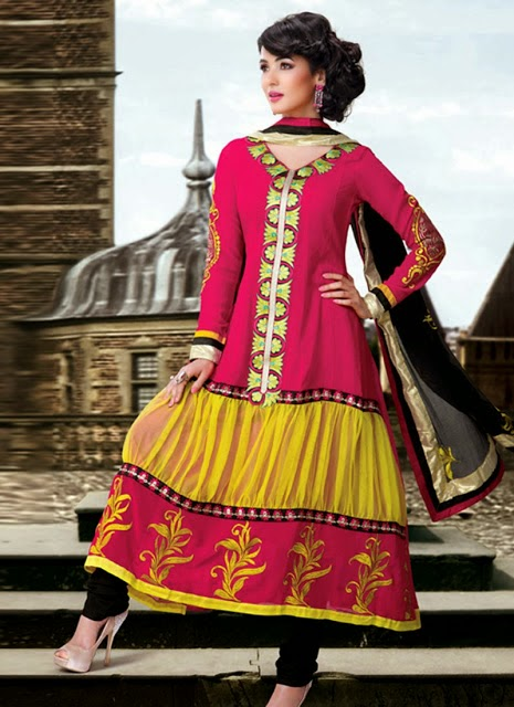 3a90a6681 Classy Indian Anarkali Frocks Collection From 2014 By Sonal Chauhan ...