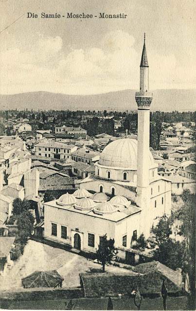 "View from the  Clock Tower toward Yeni mosque and the surrounding buildings of ""Pekmez"" Market"