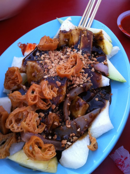 Passion for food : Cuttlefish fruit rojak & ABC Ice Kacang