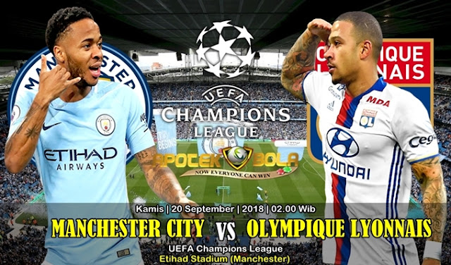 Prediksi Man. City Vs Lyon 20 September 2018 -