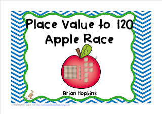 FREEBIE Place Value to 120 Apple Race