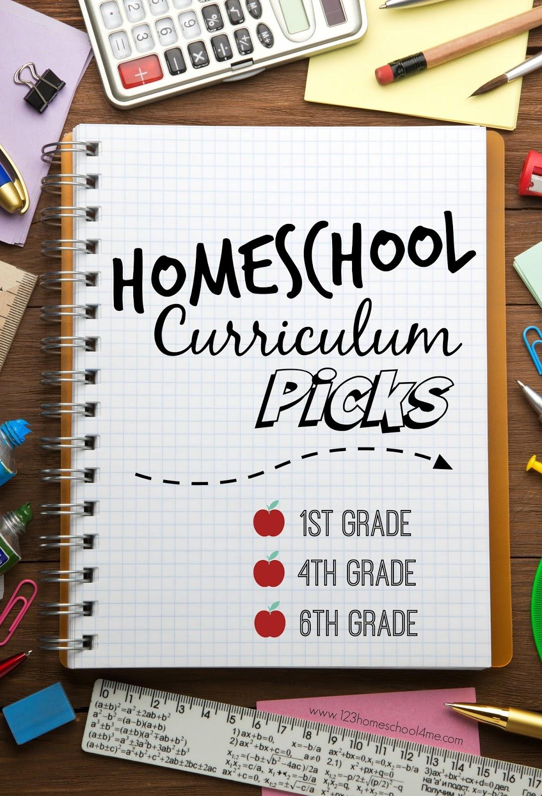 Our Curriculum Picks 1st 4th 6th Grade