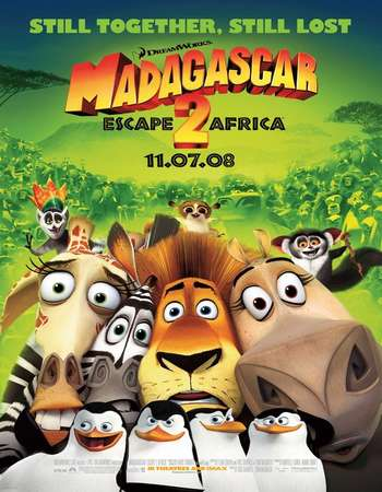 Poster Of Madagascar Escape 2 Africa 2008 Dual Audio 120MB BRRip HEVC Mobile ESubs Free Download Watch Online Worldfree4u