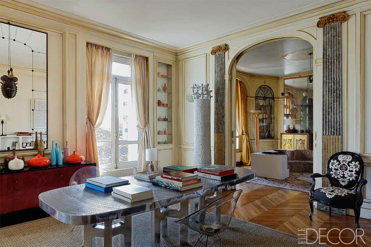 loveisspeed         high style  a classic paris apartment    when the editor of elle decoration