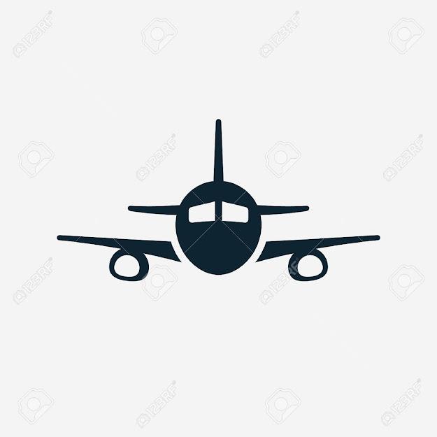 Airplane Vector Icon Stock Vector
