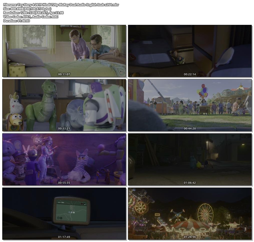 Toy Story 4 2019 Hindi 720p BluRay Dual Audio English Esub x264   480p 300MB   100MB HEVC Screenshot