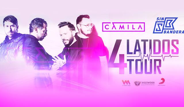 Boletos para Camila y Sin Bandera en Mexico 2019