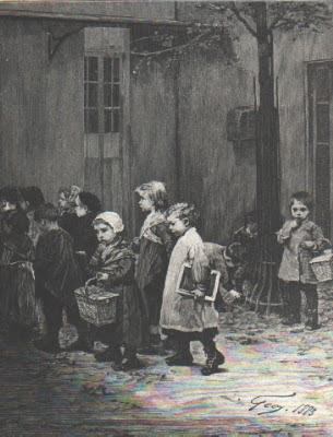 Rentrée à la salle d'asile (document musée)