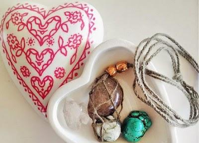 Colgante de Macrame para sujetar piedras preciosas