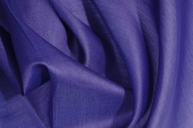 Blue Cotton Silk Fabric