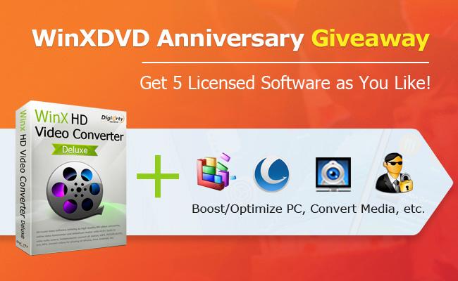 WinXDVD Anniversary Giveaway