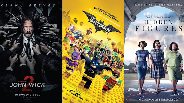 john wick 2 lego batman movie hidden figures movie poster malaysia