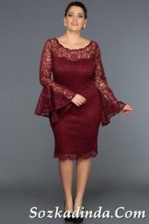 2019 büyük beden abiye elbise modelleri