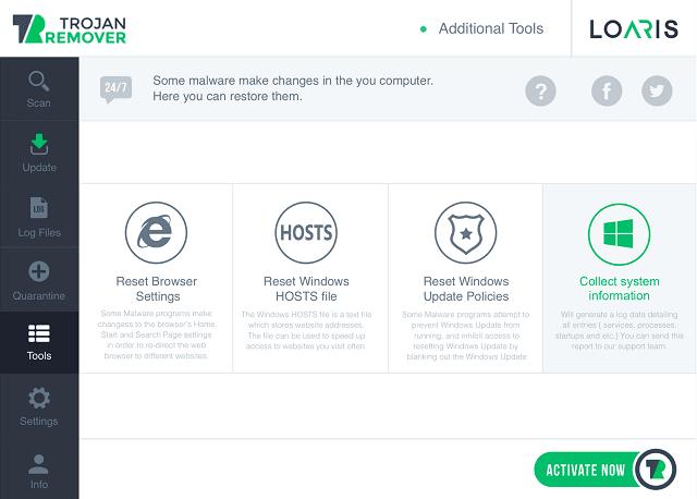 تحميل برنامج حذف ملفات التروجان Loaris Trojan Remover