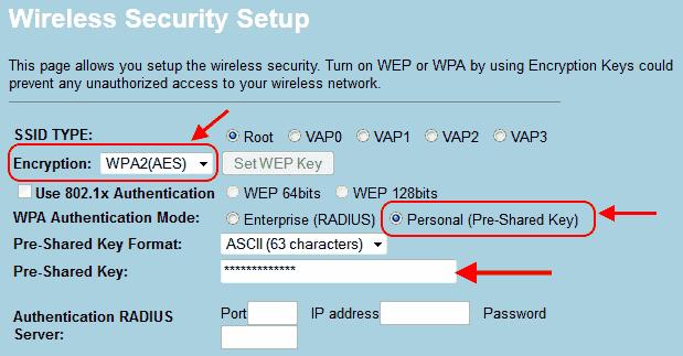 WPA2 setup