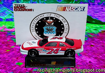 Mickey Gibbs #24 Air Force 1991 Daytona 500 Support Our Troops Cars Military Racing Champions 1/64 NASCAR diecast blog
