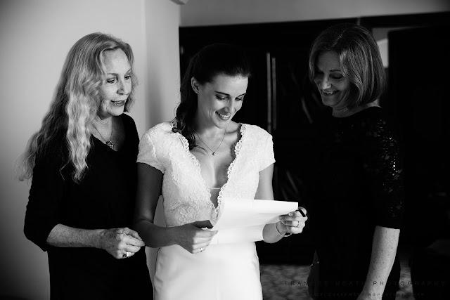Bride getting ready at Villa Cimbrone in Ravello