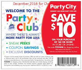 Party City coupons december