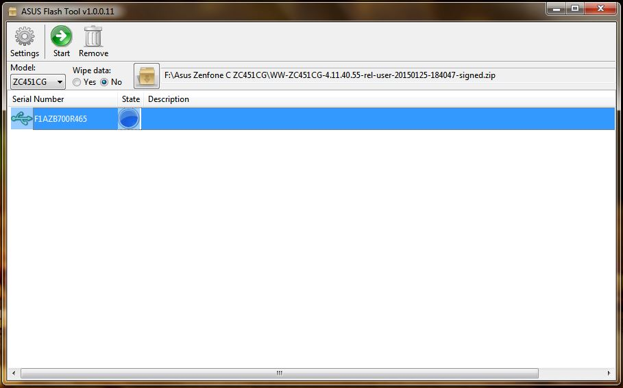 Mengatasi Bootloop pada Zenfone C (ZC451CG) via ASUS Flash Tool