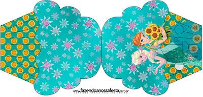 Tarjeta con forma de Cupcake de Frozen Fever.