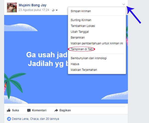 Embed Status atau Video Sosial Media Di Blog