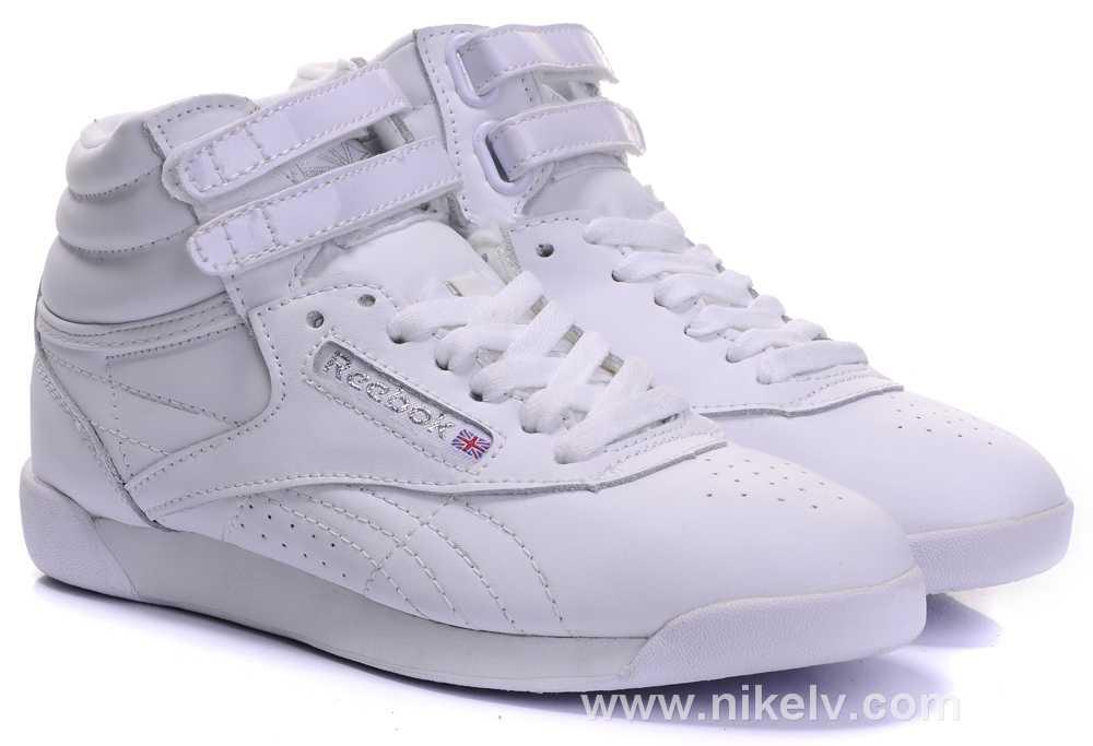 e6944c51ba180a Reebok Freestyle Hi Girls Preschool Training Shoes White White Source ·  Renee Michelle Reebok Reebok Source · White Reebok Freestyle High Top ...