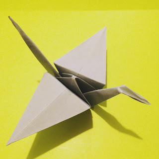 Origami Crane by welaughindoors