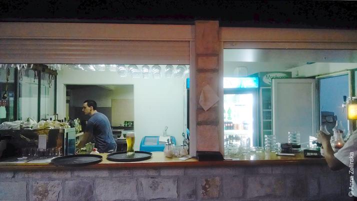 Барная стойка ресторана «Sunce» в Петроваце