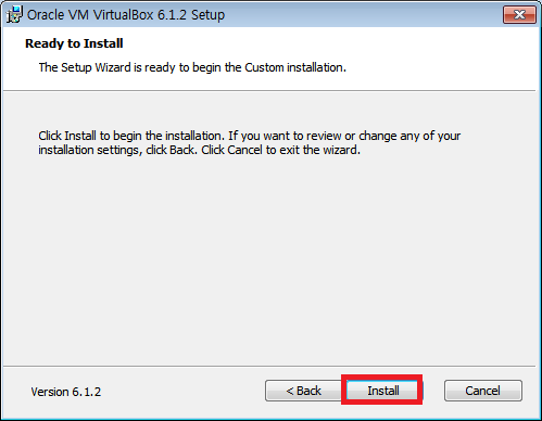 [VIRTUALIZATION] 윈도우 10에서 버추얼박스 6.1.2 설치하기