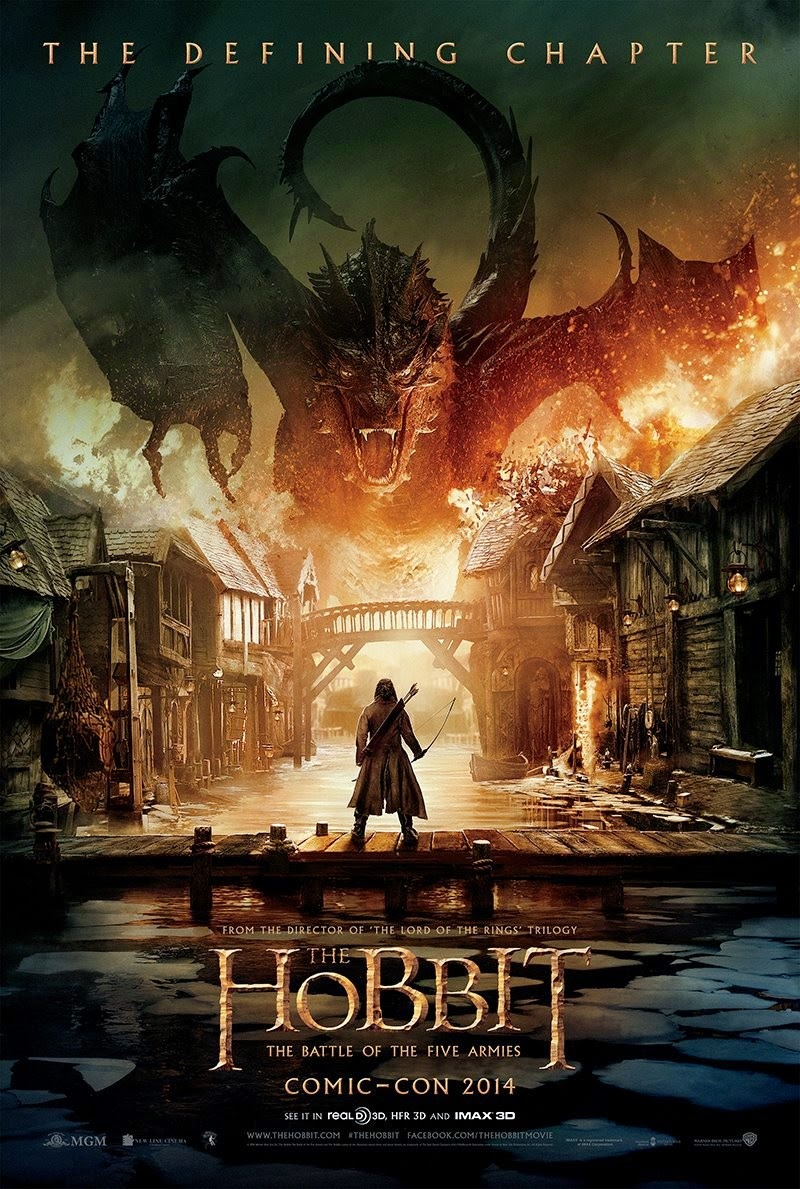 The Hobbit 3 The Battle of the Five Armies Movie Poster ...