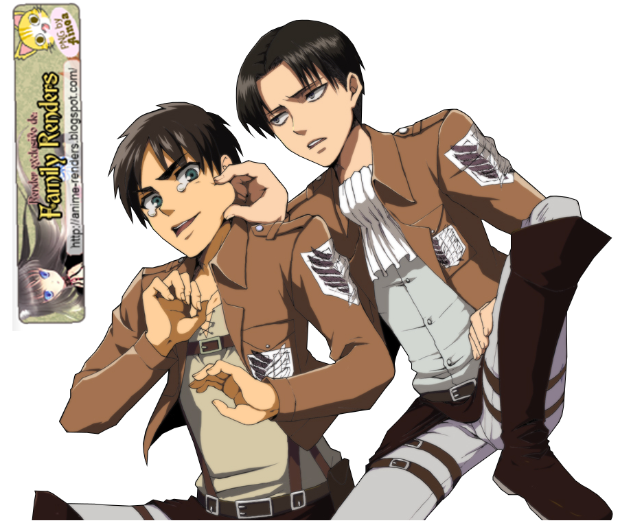 PNG- Eren y Rivaille