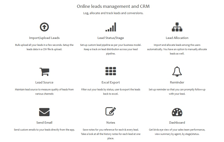Online leads management system