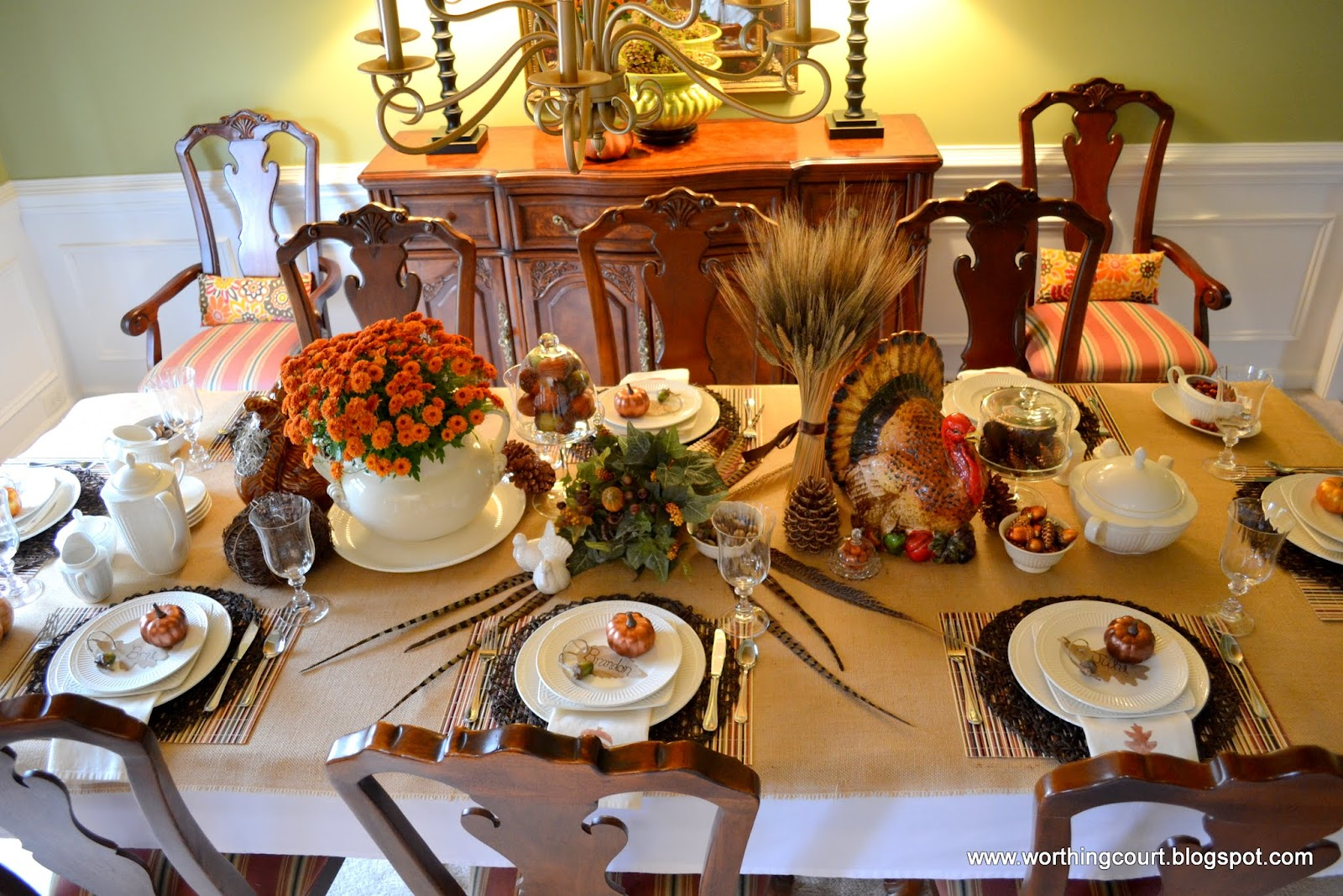 Thanksgiving table via Worthing Court blog u2026 : thanksgiving party decoration ideas - www.pureclipart.com