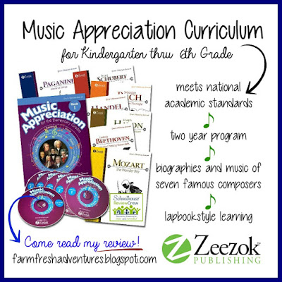 Music Appreciation Book 1 from Zeezok Publishing~ Curriculum Review