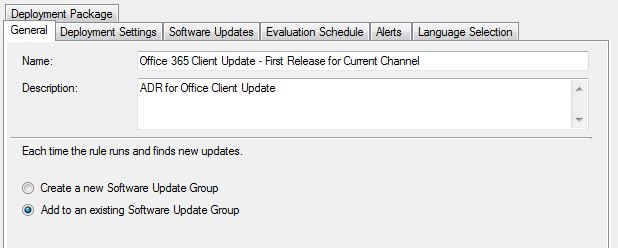 Kevinisms: Office 365 Click-to-Run Updates via ConfigMgr ADR