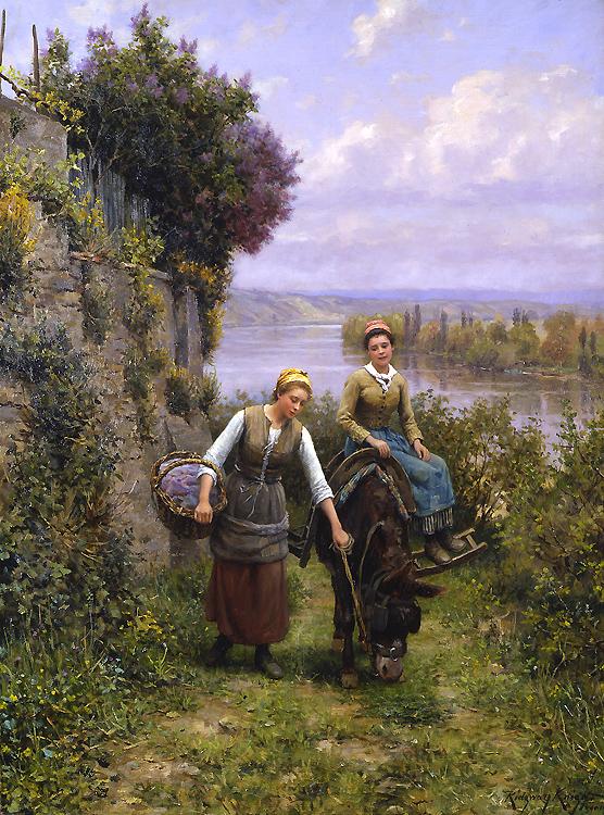 Retornando pra Casa - Daniel Ridgway Knight e suas mais belas pinturas