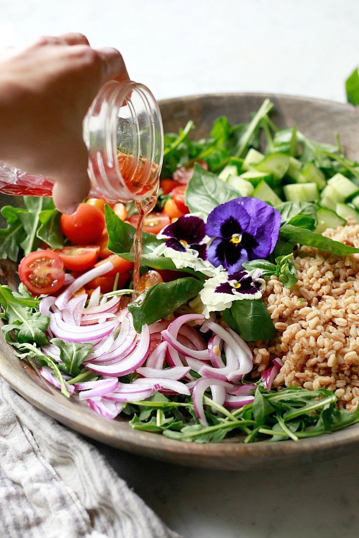 Farro Salad | Yummy Mummy Kitchen | A Vibrant Vegetarian Blog